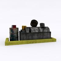 3d waste oil tank model