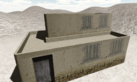 arabic house 3d fbx