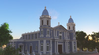 church colonial style c4d