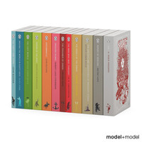colorful children books set 3d model