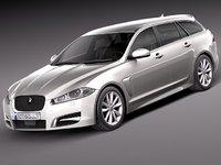 3d 3ds xf 2013 sportbrake wagon