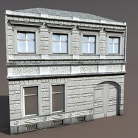 3ds building exterior modelled