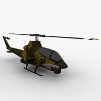 3dsmax ah-1 helicopter games