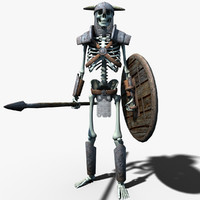 fantasy skeleton warrior 3d max