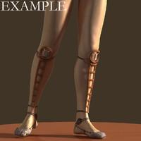 3dsmax ultra light sandals leg