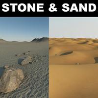 sand desert terrain 3d max