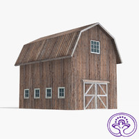 wooden barn b 3ds