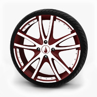 alloy wheel tire 3d model