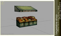 vegetable shop 3d model