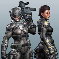 Female Soldier Character