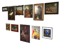 3d model of 11 paintings 2