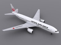 aircraft japan airlines 3d model