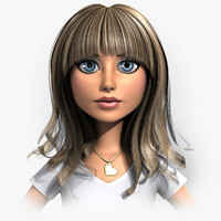 cartoon woman - 3d max