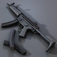 accurate sub-machine gun 3d model