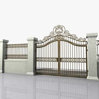 3d wrought iron gate model