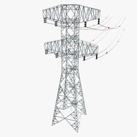 electric pylon 3d 3ds