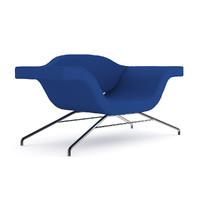 maya blue modern armchair