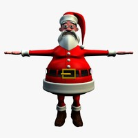 3d model of cartoon character ted santa claus