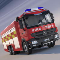 mercedes actros truck 3d model