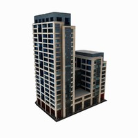 3d residential office building