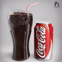 photorealistic coca cola glass 3d max