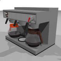3d coffee machine restaurant
