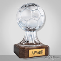 maya crystal soccer award trophy