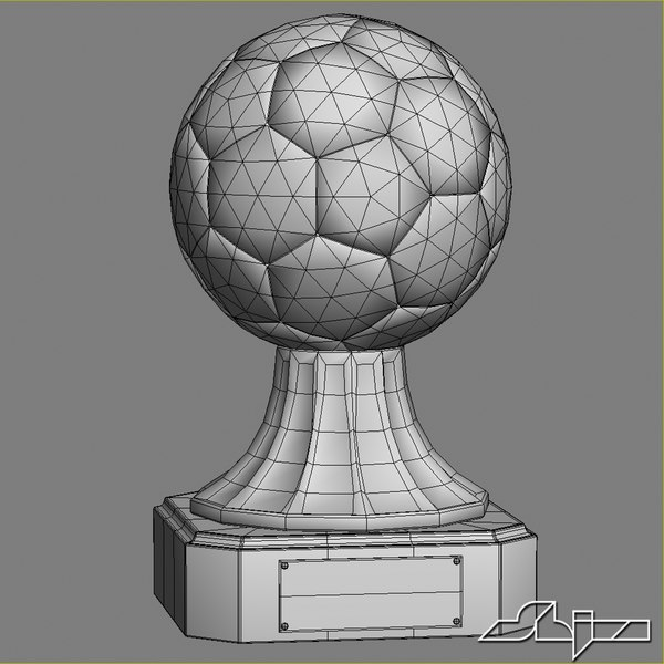 maya crystal soccer award trophy - Crystal Soccer Award Trophy... by shiva3d