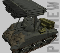 3d model sherman rocket launchers wwii