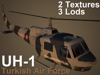 uh-1 helicopter 3d max