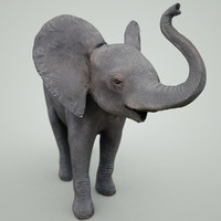 3d model fotorealistic elephant