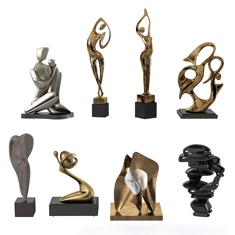 3d modern sculpture Home decor sculptures