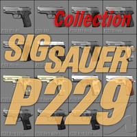 sig sauer p229 series 3d model