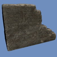 broken wall brick 3d max