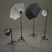 realistic studio lighting lamps 3d max
