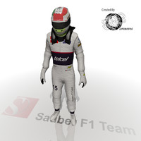 3d sergio perez 2012 model