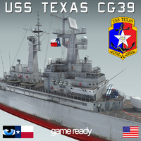 USS TEXAS CGN-39 with SH-60