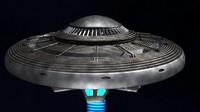 3d model ufo space