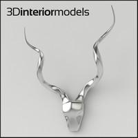 aluminium antlers 3d max
