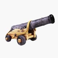 cannon artillery obj
