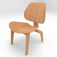 3d wooden lounge chair wood model