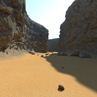 3ds max canyon rocks sand