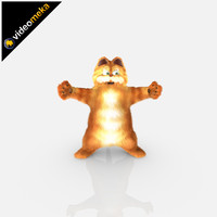 3d cat garfield character