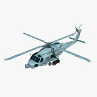 3d model of mh-60r military helicopter