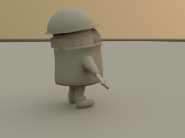 3d rigged mini worker model - Mini Worker... by Shortay91