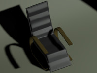 black modern chair 3ds free