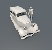 old historic car 3d model