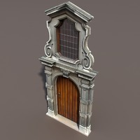 ornate door modelled 3ds