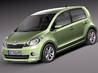 3d model skoda citigo citi 2013