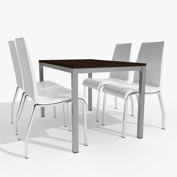 Table and chairs png 3d model table chairs